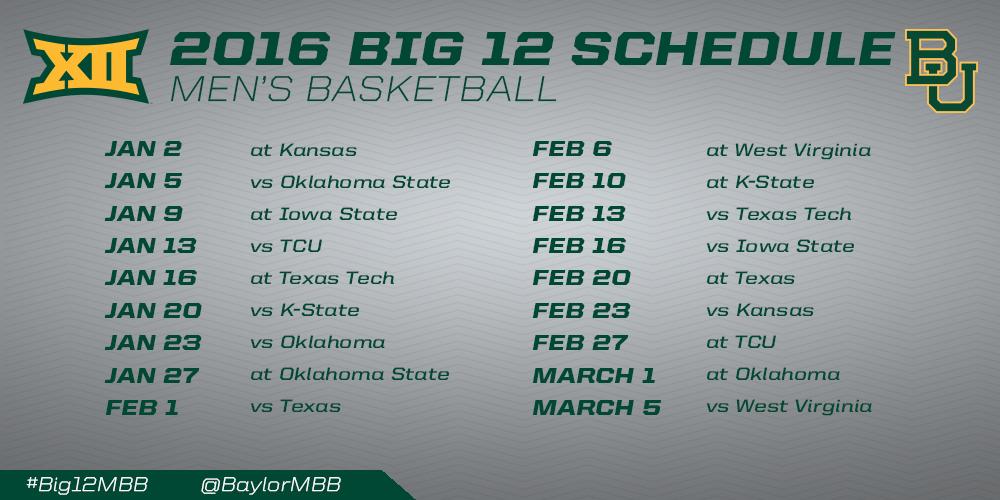 men s basketball schedule boasts national exposure big 12