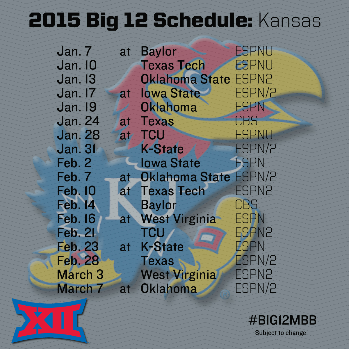 record national exposure highlights men's basketball schedule - big